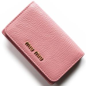 ミュウミュウ カードケース レディース マドラス カラー ローザピンク&ムゲットピンク 5MC011 2BJI F0387 MIU MIU