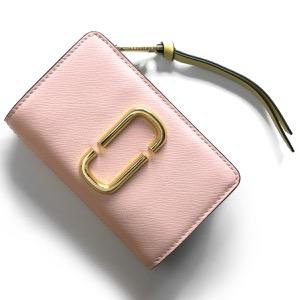 マークジェイコブス 二つ折り財布 財布 レディース スナップショット ブラッシュピンクマルチ M0013356 698 2019年春夏新作 MARC JACOBS