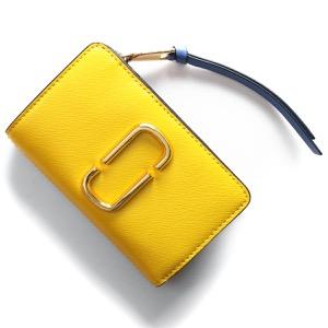 マークジェイコブス 二つ折り財布 財布 レディース スナップショット レモンイエローマルチ M0013356 794 2019年春夏新作 MARC JACOBS