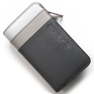 マークジェイコブス 二つ折り財布 財布 レディース サフィアーノ メタル ムーディグレーマルチ M0013706 093 1SZ 2018年秋冬新作 MARC JACOBS