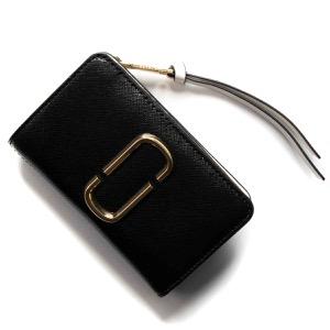 マークジェイコブス 二つ折り財布 財布 レディース スナップショット ダブルJロゴ ブラックマルチ M0014281 002 MARC JACOBS