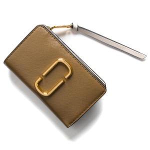 マークジェイコブス 二つ折り財布 財布 レディース スナップショット ダブルJロゴ フレンチグレイマルチ M0014281 064 MARC JACOBS