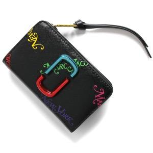 マークジェイコブス 二つ折り財布 財布 レディース スナップショット NEW YORK MAGAZINE コラボ ブラック M0015126 001 2019年秋冬新作 MARC JACOBS