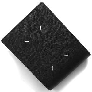 メゾンマルジェラ 二つ折り財布 財布 メンズ ステッチ ブラック S35UI0436 P0399 T8013 MAISON MARGIELA