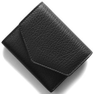 メゾンマルジェラ三つ折り財布/ミニ財布 財布 レディース ブラック S56UI0136 P0399 T8013 2020年春夏新作
