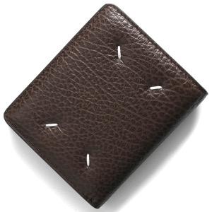 メゾンマルジェラ 二つ折り財布/ミニ財布 財布 メンズ レディース ステッチ ウォルナットブラウン S56UI0140 P0399 T2186 MAISON MARGIELA