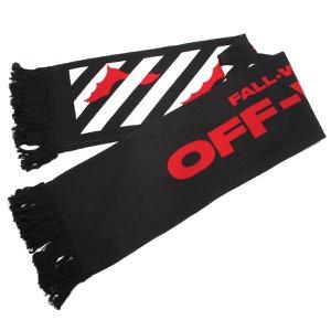 オフホワイト マフラー/スカーフ メンズ バット ブラック&レッド OMMA001E194070071020 OFF-WHITE