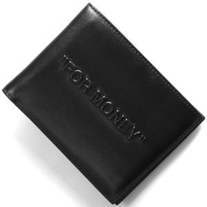 オフホワイト 二つ折り財布 財布 メンズ レディース ボールド クォーテ バイフォールド ブラック OMNC008E198530571010 2019年秋冬新作 OFF-WHITE