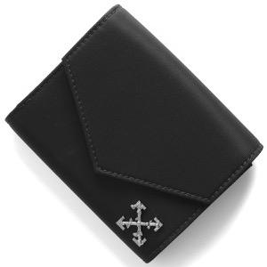 オフホワイト 三つ折り財布 財布 メンズ ナイロン スモール クロス ブラック OWNC010S190740441000 OFF-WHITE