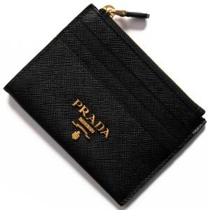 プラダ コインケース【小銭入れ】/クレジットカードケース 財布 レディース サフィアーノ メタル ブラック 1MC026 QWA F0002 PRADA