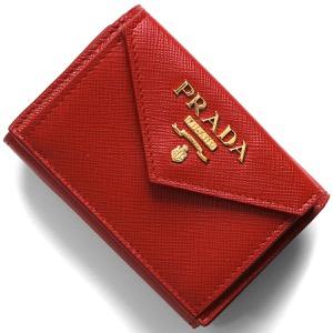 プラダ 三つ折り財布/ミニ財布 財布 レディース サフィアーノ メタル フォーコレッド 1MH021 QWA F068Z PRADA