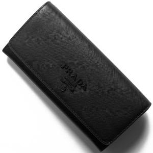 プラダ 長財布 財布 メンズ サフィアーノ シャイン 三角ロゴプレート ブラック 1MH132 2EBW F0002 PRADA