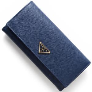 プラダ 長財布 財布 レディース サフィアーノ トライアングル 三角ロゴプレート ブリエッタブルー 1MH132 QHH F0016 PRADA