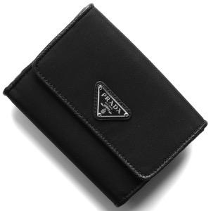 プラダ 二つ折り財布 財布 レディース テスート 三角ロゴプレート ブラック 1MH523 UZ0 F0002 PRADA