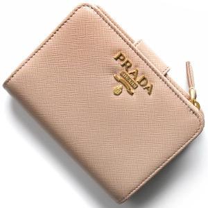 プラダ 二つ折り財布 財布 レディース サフィアーノ メタル チプリアピンクページュ 1ML018 QWA F0236 PRADA