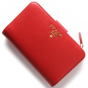 プラダ 二つ折り財布 財布 レディース VITELLO MOVE ラッカレッド 1ML225 2EZZ F0RGA PRADA