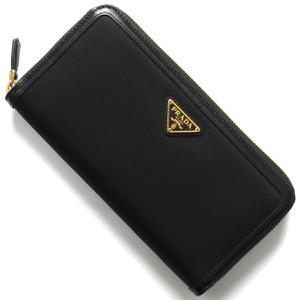 プラダ 長財布 財布 レディース テスート トライアングル 三角ロゴプレート ブラック 1ML506 2B15 F0002 PRADA