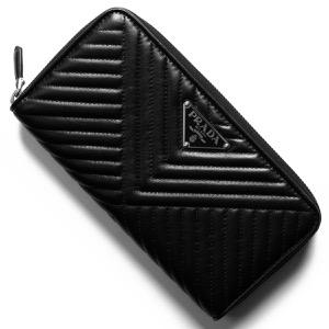 プラダ 長財布 財布 メンズ レディース ナッパ インプントゥーレ 三角ロゴプレート キルティング ブラック 1ML506 2CET F0002 PRADA