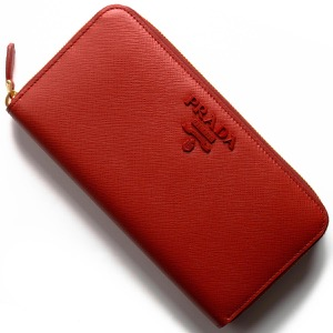 プラダ 長財布 財布 レディース サフィアーノ シャイン フォーコレッド 1ML506 2BBW F068Z PRADA