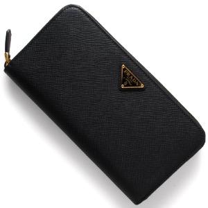 プラダ 長財布 財布 レディース SAFFIANO TRIANG 三角ロゴプレート ブラック 1ML506 QHH F0002 PRADA
