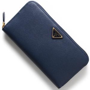 プラダ 長財布 財布 レディース SAFFIANO TRIANG 三角ロゴプレート ブリエッタブルー 1ML506 QHH F0016 PRADA