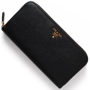 プラダ 長財布 財布 レディース SAFFIANO METAL ブラック 1ML506 QWA F0002 PRADA