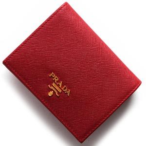 プラダ 二つ折り財布 財布 レディース サフィアーノ メタル SAFFIANO METAL フォーコレッド 1MV204 QWA F068Z PRADA