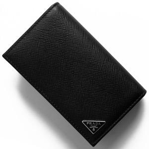プラダ カードケース メンズ サフィアーノ トライアングル 三角ロゴプレート ブラック 2MC122 QHH F0002 PRADA