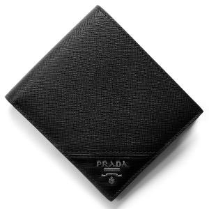 プラダ 二つ折り財布 財布 メンズ サフィアーノ メタル ブラック 2MO738 QME F0002 PRADA