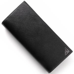 プラダ 長財布 財布 メンズ SAFFIANO TRIANG ブラック 2MV836 QHH F0002 PRADA