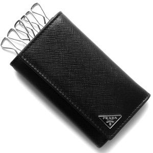 プラダキーケース メンズ サフィアーノ トライアングル SAFFIANO TRIANG 三角ロゴプレート ブラック 2PG222 QHH F0002
