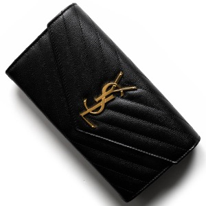 サンローランパリ長財布 財布 レディース モノグラム YSL ブラック 372264 BOW01 1000