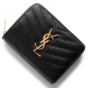 サンローランパリ二つ折り財布 財布 レディース モノグラム YSL ブラック 403723 BOW01 1000