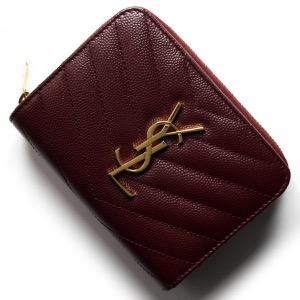 サンローランパリ イヴサンローラン 二つ折り財布 財布 レディース モノグラム YSL ルージュレギオン 403723 BOW01 6475 SAINT LAURENT PARIS