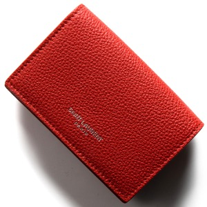 サンローランパリ イヴサンローラン 三つ折り財布/ミニ財布 財布 レディース エプソン バンダナレッド 459784 B680N 6515 SAINT LAURENT PARIS