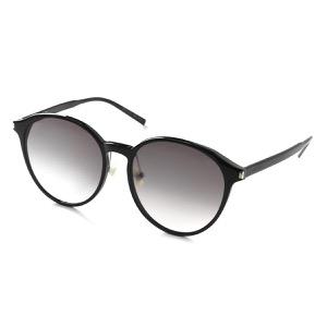 サンローランパリ イヴサンローラン サングラス メンズ レディース ウェリントン ブラック&グレー SL 198 K SLIM 001 KOR SAINT LAURENT PARIS