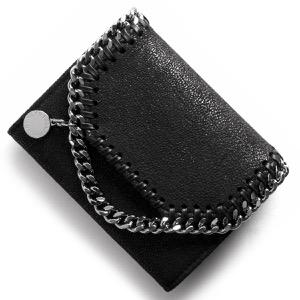 ステラマッカートニー 二つ折り財布 財布 レディース ファラベラ シャギー スモール ブラック 391836 W9132 1000 STELLA McCARTHNEY