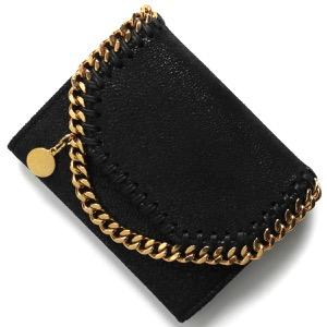ステラマッカートニー 二つ折り財布 財布 レディース ファラベラ シャギー スモール ブラック 391836 W9355 1000 STELLA McCARTHNEY