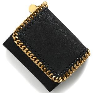 ステラマッカートニー 三つ折り財布 財布 レディース ファラベラ スモール フラップ ブラック 431000 W9355 1000 STELLA McCARTHNEY