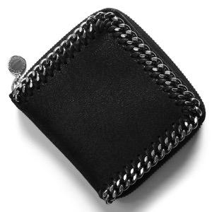 ステラマッカートニー 二つ折り財布 財布 レディース ファラベラ シャギー スモール ブラック 581236 W9132 1000 2019年秋冬新作 STELLA McCARTHNEY