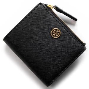 トリーバーチ 二つ折り財布 財布 レディース ロビンソン ブラック&ロイヤルネイビー 47124 018 TORY BURCH