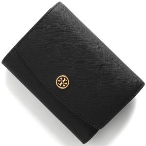 トリーバーチ 三つ折り財布 財布 レディース ロビンソン ミディアム ブラック 54474 001 TORY BURCH
