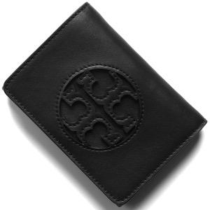 トリーバーチ 三つ折り財布 財布 メンズ レディース ミラー ミディアム ブラック 58130 001 2020年春夏新作 TORY BURCH