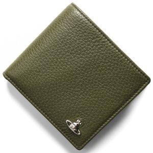 ヴィヴィアンウエストウッド 二つ折り財布 財布 メンズ ミラノ マン グリーン 51010016 40324 M401 VIVIENNE WESTWOOD