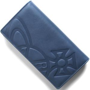 ヴィヴィアンウエストウッド 長財布 財布 メンズ チェスター ブルー 51040010 40317 K401 VIVIENNE WESTWOOD