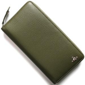 ヴィヴィアンウエストウッド 長財布 財布 メンズ ミラノ トラベル グリーン 51080021 40324 M401 VIVIENNE WESTWOOD