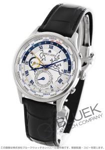 モーリス・ラクロア マスターピース トラディション ワールドタイマー GMT クロコレザー 腕時計 メンズ MAURICE LACROIX MP6008-SS001-111