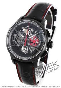 モーリス・ラクロア マスターピース スケルトン クロノグラフ クロコレザー 腕時計 メンズ MAURICE LACROIX MP6028-PVB010-011