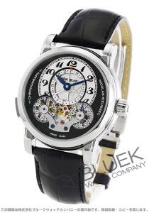 モンブラン ニコラ・リューセック クロノグラフ パワーリザーブ アリゲーターレザー 腕時計 メンズ MONTBLANC 104981