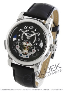 モンブラン ニコラ・リューセック オープン ホームタイム クロノグラフ アリゲーターレザー 腕時計 メンズ MONTBLANC 107070-W
